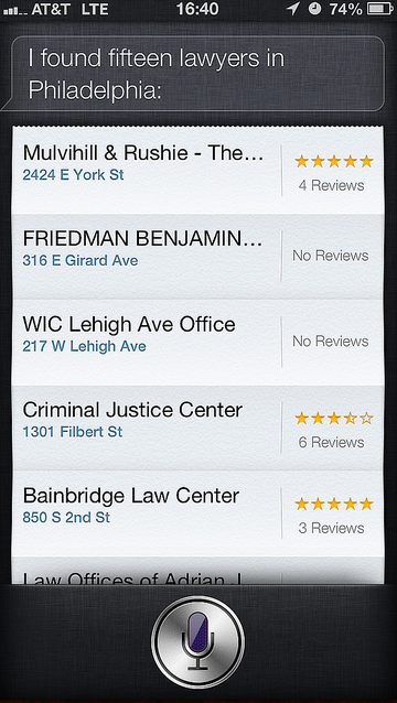Thanks Siri. Now find me a sleazy SEO marketer in NYC…