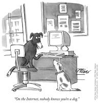 On the internet, nobody knows you're a dog.