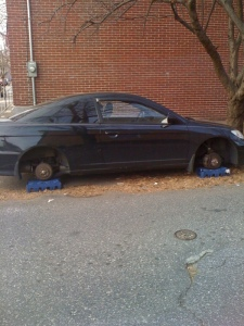 My old car. This is why we can't have nice things in Philly.